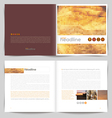 Template booklet design - cover and inside pages vector image