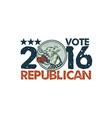 Vote Republican 2016 Elephant Boxer Circle Etching vector image