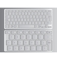 Keyboards white vector image