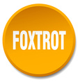 foxtrot orange round flat isolated push button vector image