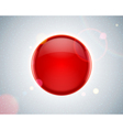 Abstract glossy red sphere vector image