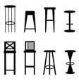 bar stools set in black ilustration vector image