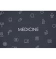 Medicine Thin Line Icons vector image
