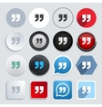 modern quote icons set vector image