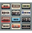 Set of retro audio cassettes vector image