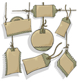 set of tags vector image