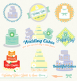 Wedding Cake Labels vector image