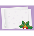paper sheets and cherry vector image vector image