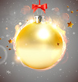 Christmas Background with Golden Baubles vector image