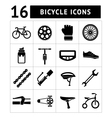 Set icons of bicycle biking bike parts vector image