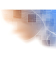 Modern abstract blue orange shine background vector image