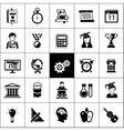 University Icons Black vector image