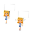 set of funny cartoon housewife vector image vector image
