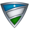 steel shield with flag puntland vector image vector image
