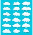 cute cartoon white clouds vector image