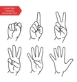 Counting hands set vector image