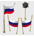 Russia flag icons vector image