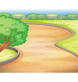 Empty schoolyard vector image