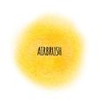 airbrush splatter stain Round paint vector image