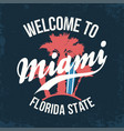 miami florida state t-shirt design typography for vector image
