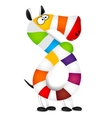Number eight Made of colorful animal cartoon vector image