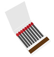 Opened matchbox vector image