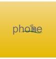 phone spelling vector image
