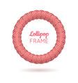 pink frame from lollipops vector image