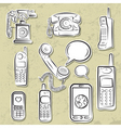 telephones collection vector image