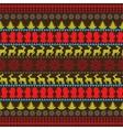 Traditional Christmas seamless horizontal pattern vector image