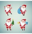 Set of Christmas Santa Claus vector image