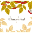 Retro background with leaves and berries vector image