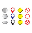 set of labels buttons and icons vector image