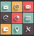 Application Web Icons in Flat Design vector image vector image