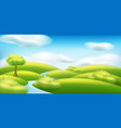 spring-summer landscape with trees vector image