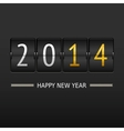 Happy new year 2014 card Mechanical timetable vector image