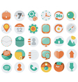 Application Web Icons in Flat Design vector image