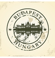 Grunge rubber stamp with Budapest Hungary vector image vector image