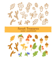 Forest treasures vector image vector image