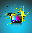 abstract art of TV vector image