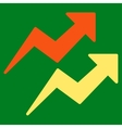 Trends icon from Business Bicolor Set vector image