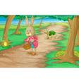 Rabbit in woods vector image vector image