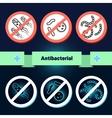 Antibacterial coating sterilization vector image