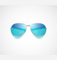 beach sea and sky reflection sunglasses vector image