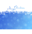 Blue Christmas background with hand-written text vector image