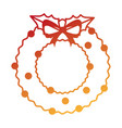 merry christmas wreath crown vector image