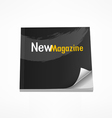 New Magazine blank page template vector image