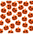 pattern silhouette with halloween pumpkin vector image