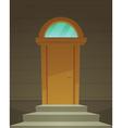 Retro Front Door vector image