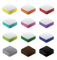 set of colorful blocks vector image
